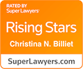 Super Lawyers rating for Christine Billiet