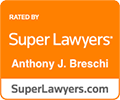 Super Lawyers rating for Anthony J. Breschi