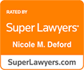 Super Lawyers rating for Nicole Delford