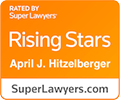 Super Lawyers rating for April Hitzelberger