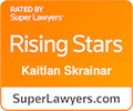 Super Lawyers rating for Kaitlan M. Skrainar