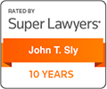 Super Lawyers rating for John Sly
